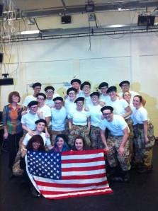 cast and flag