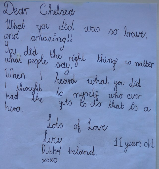 chelsea letter