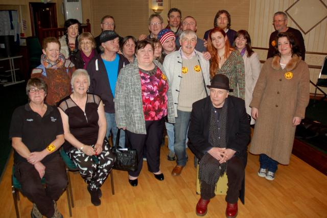 4321 group photo at the end of sat night event at labour club